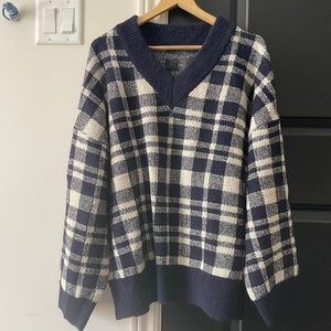 Stylenanda Korean oversized shoulder drop sweater